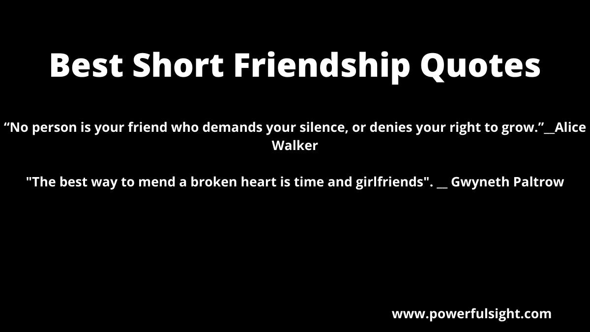 Best Short Friendship Quotes