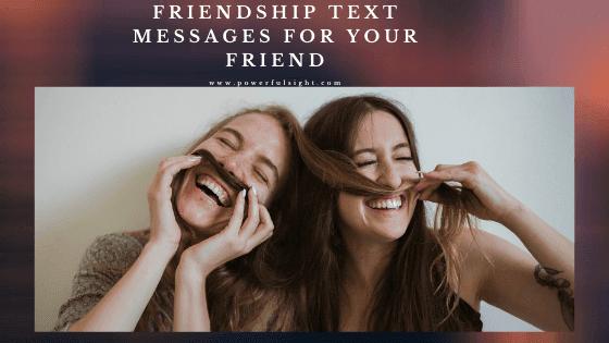 friendship text