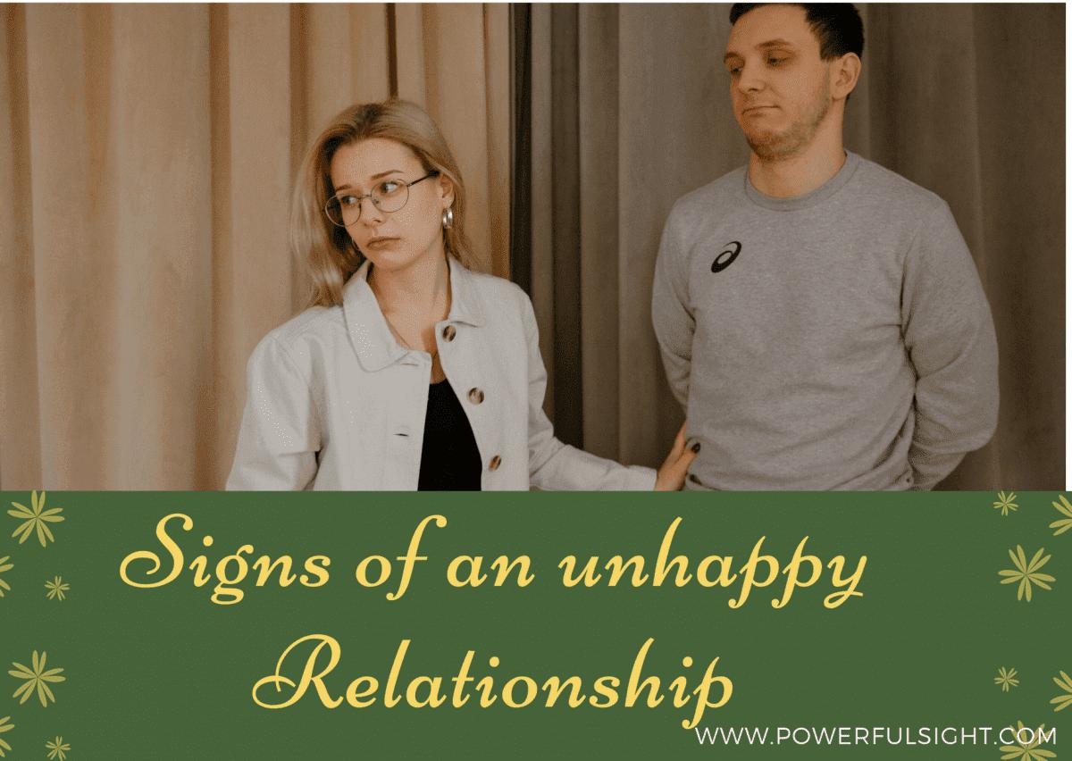 Unhappy Relationship