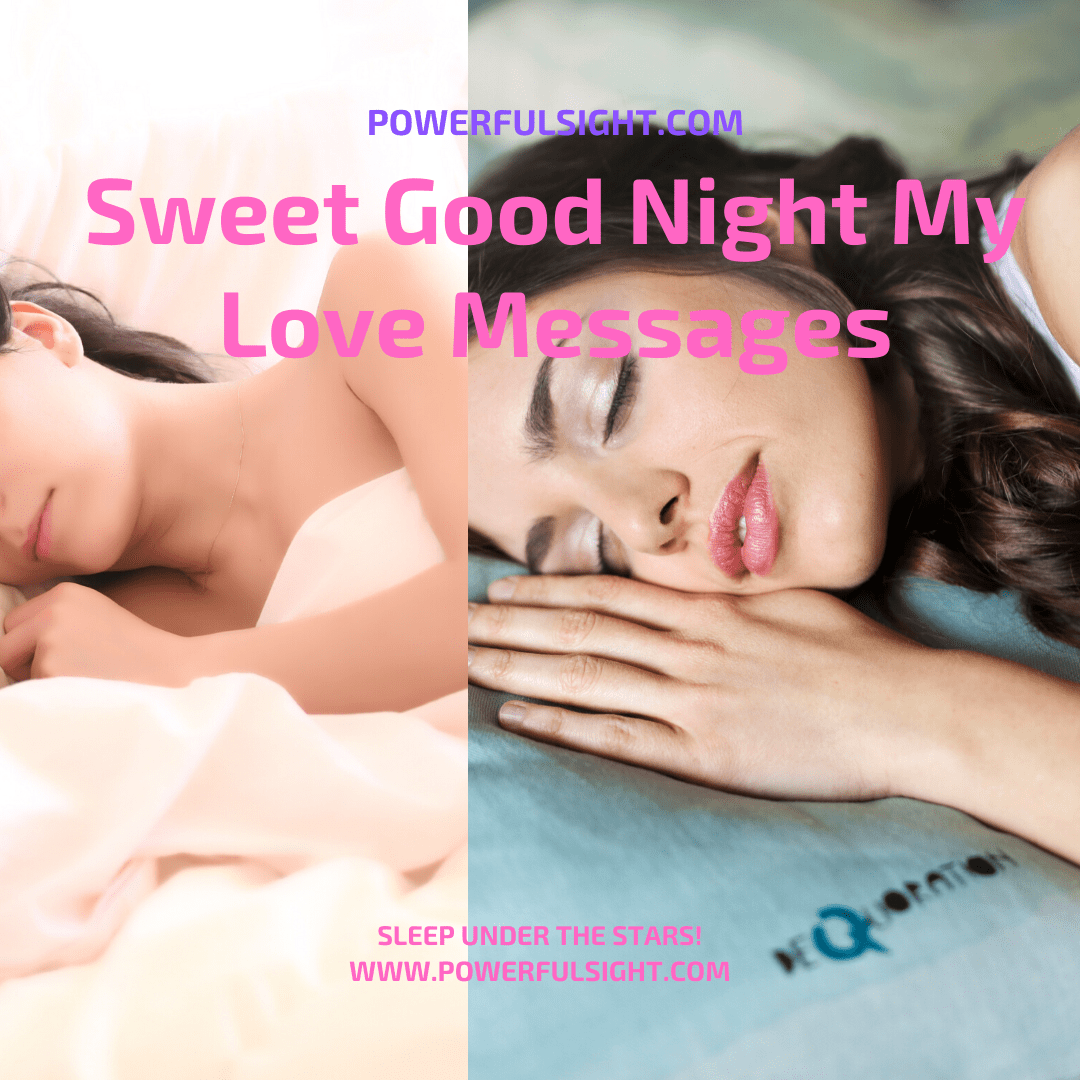 Picture of good night my love messages