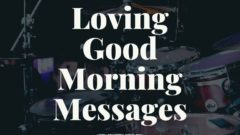 Picture of loving good morning messages
